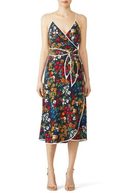Item - Multicolor Grottow Wrap Mid-length Formal Dress Size 6 (S)