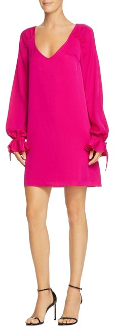 Item - Magenta Dana Poet-sleeve Short Work/Office Dress Size 0 (XS)