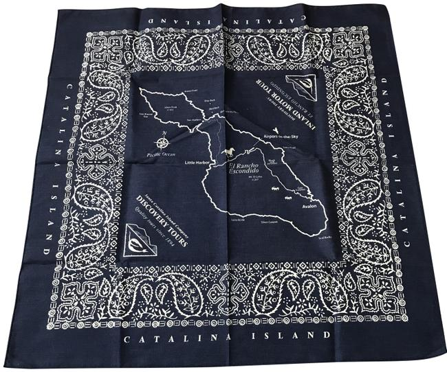 Item - Navy and White Catalina Island Souvenir Scarf/Wrap