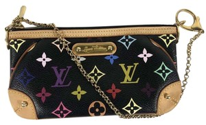 ecff5c10566 Louis Vuitton Pochette Milla Mm Multicolor Pouch Black Canvas Clutch ...