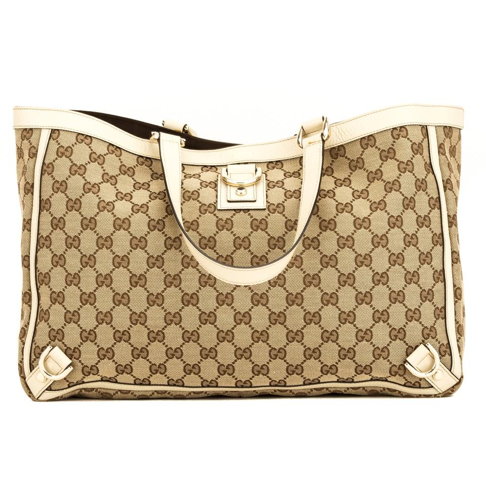 315194986bb Gucci Abbey Gg Large D-ring 4079006 Brown Monogram Tote - Tradesy