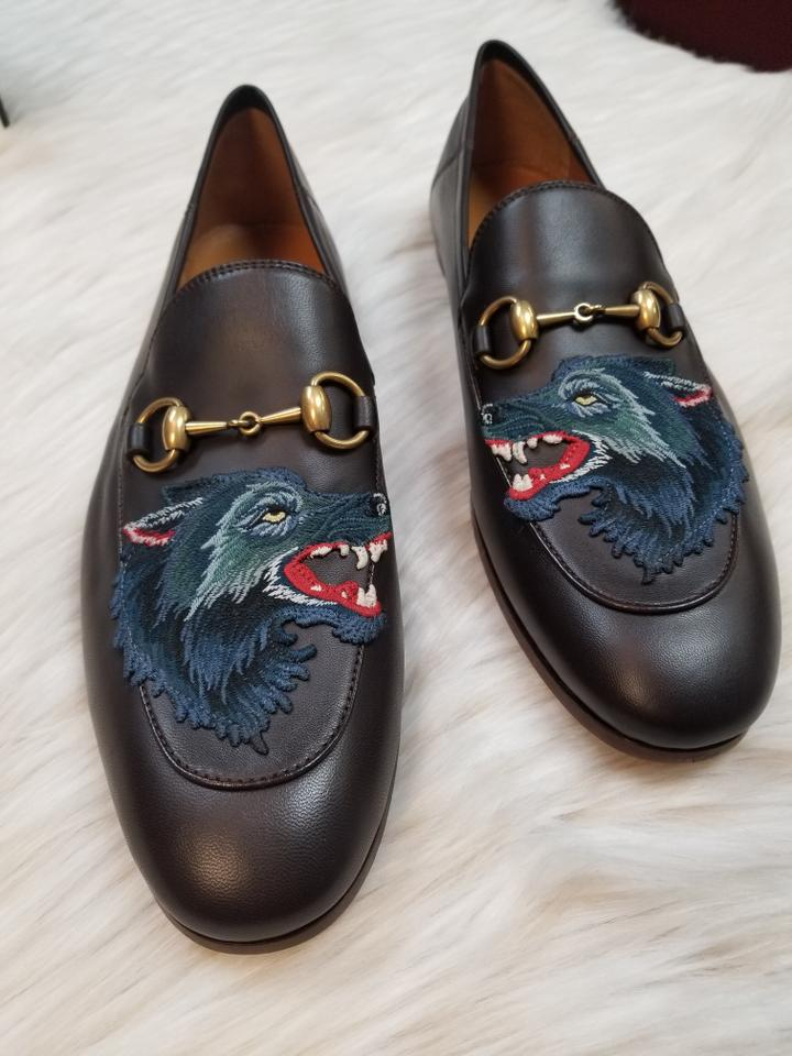0e732a98e92 Gucci Brown Men s Brixton Angry Wolf Loafers (Men Formal Shoes Size ...