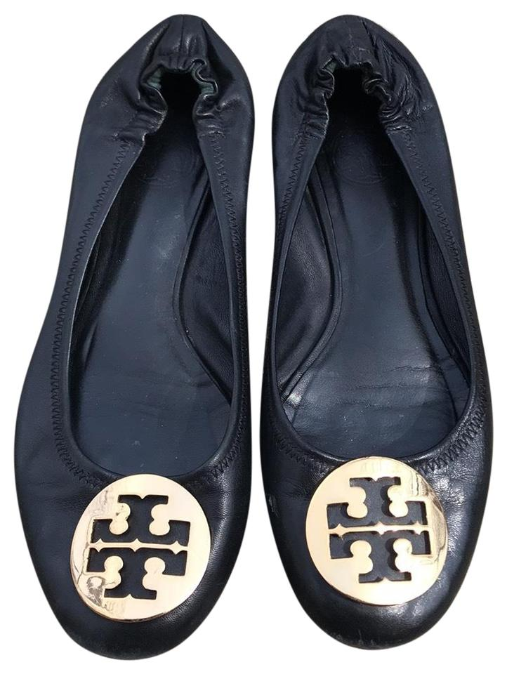 91f39a0f02dc Tory Burch Black and Gold Ballet Flats Size US 8 Regular (M