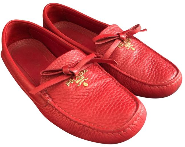 Item - Red Loafers Flats Size EU 36.5 (Approx. US 6.5) Regular (M, B)