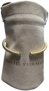 David Yurman David Yurman 18 k precious cable cablespira bracelet with emeralds