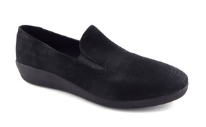 f045c7e40ef8 FitFlop Slip On Round Toe Skate Superskate Comfy Black Flats