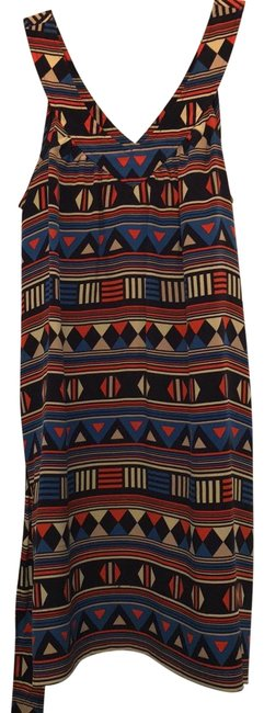 Item - Multi Colored Mid-length Work/Office Dress Size 0 (XS)