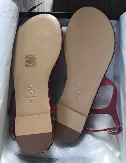 Chanel red Sandals Image 6