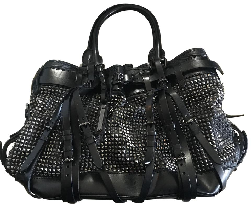00803227b Burberry Large Rowan Studded Handbag Black Leather Tote - Tradesy