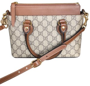 c442fbed92b Gucci New Ophidia Gg Supreme Small Brown Suede Leather Shoulder Bag ...
