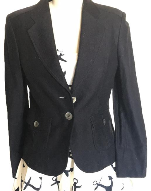 Item - Navy Linen This Is with Tags Attached Jacket Size Petite 2 (XS)