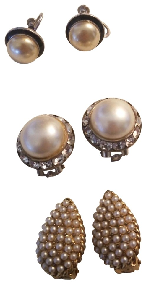 dd1c6ed08 Unknown Set of 3 Vintage Earrings for Non-Pierced Ears Image 0 ...