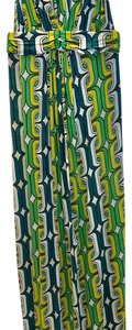 Teal, green, yellow and white Maxi Dress by T-Bags Los Angeles Maxi Summer Vacation Beach