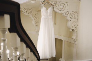 539ff5cfb1 BHLDN Ivory/Champagne Lace Beads Tulle Cassia Gown Feminine Wedding Dress