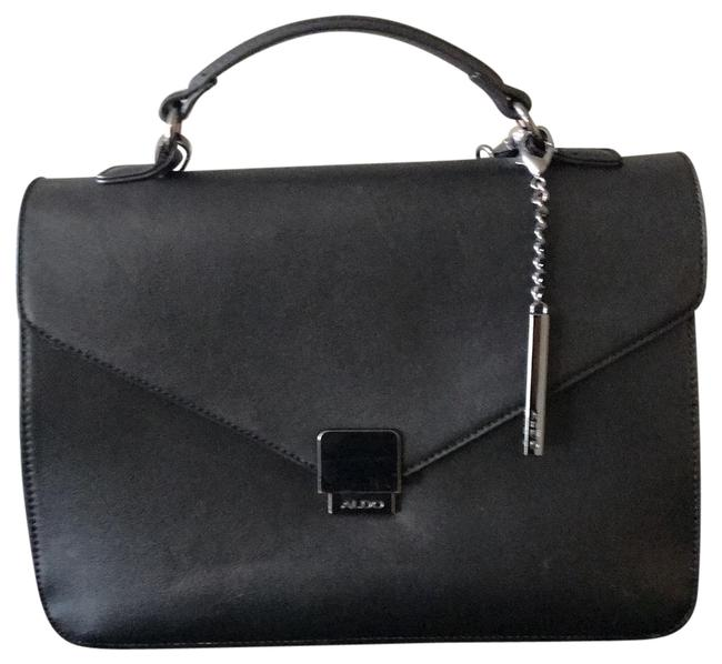 Item - Black Leather Messenger Bag
