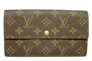 Louis Vuitton Monogram Leather Bifold Snap Purse Coin Long Wallet