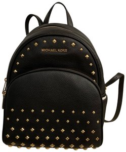 3be39878f41f Michael Kors Gold Studs Embellished Leather Backpack