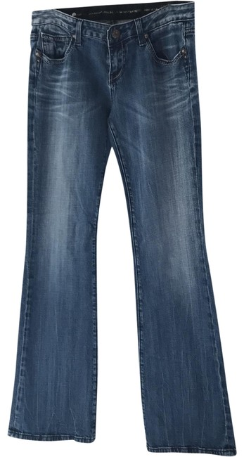 Item - Blue Distressed Rerock By Flare Leg Jeans Size 8 (M, 29, 30)