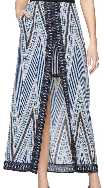 Item - Blue XS Jane Chevron Printed Skirt Size 2 (XS, 26)