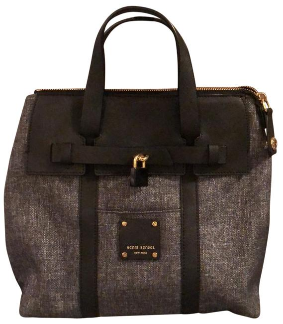 Item - Small Jetsetter Convertible Gray/Black Canvas Backpack