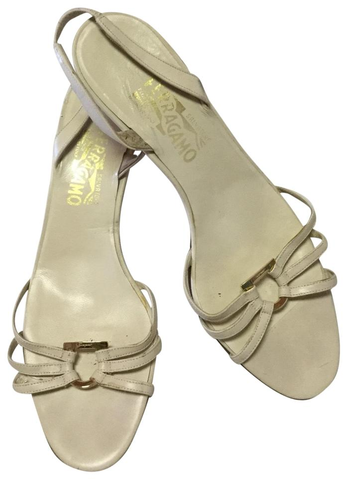 26a930be0 Salvatore Ferragamo White Nablina Strappy Sandals. Size  US 8 Regular ...