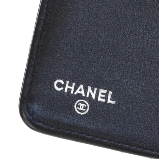 Chanel All Black Patent Leather Long Wallet Image 8