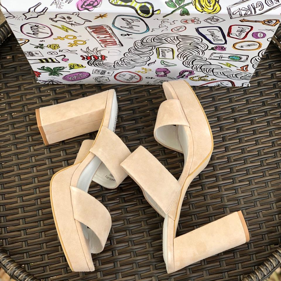 a6552aba5e3a Jeffrey Campbell Light Pink Adriana Double Band Sandals Platforms ...