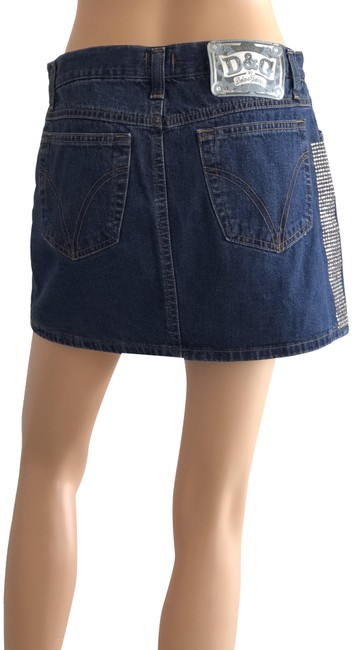 Item - Blue Denim Crystal Skirt Size 6 (S, 28)