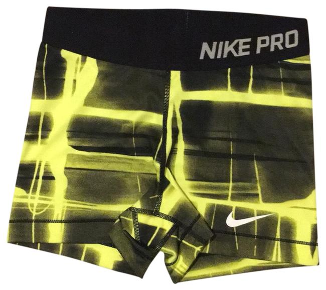 """Item - Neon Yellow and Black. Pro 3"""" Dri-fit Activewear Bottoms Size 4 (S)"""