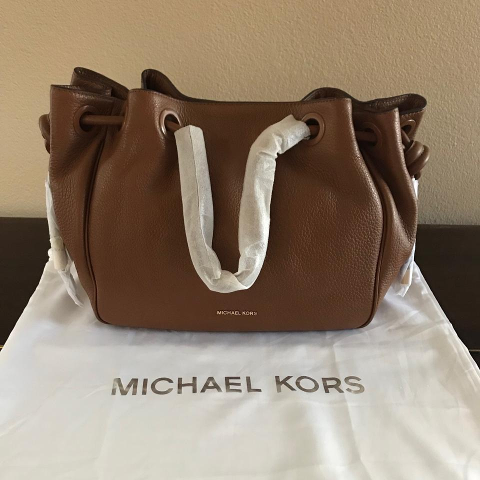 698766584c40 Michael Kors Shoulder Bag Dalia Large Drawstring (New with Tags) Luggage  Brown/ Gold Hardware Leather Tote - Tradesy