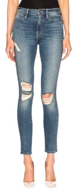 Item - Blue Distressed Le High Skinny Jeans Size 28 (4, S)