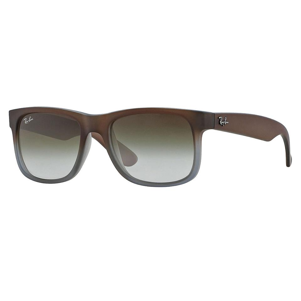 b897f1bc45 Ray-Ban Ray-Ban Justin Classic Sunglasses Brown  Green 55mm RB4165 Image 0  ...