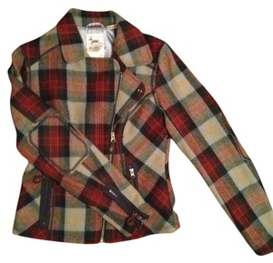 Triple Five Soul Elbow Patches Zippers Satin Lining Interior plaid Jacket