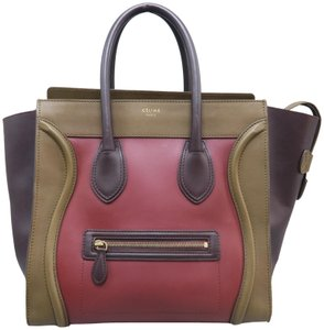 248d7d2877 Céline Luggage Calfskin Mini Tote in Multicolor