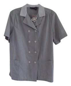 Other Lady Edwards Jacket Button Down Shirt Gray