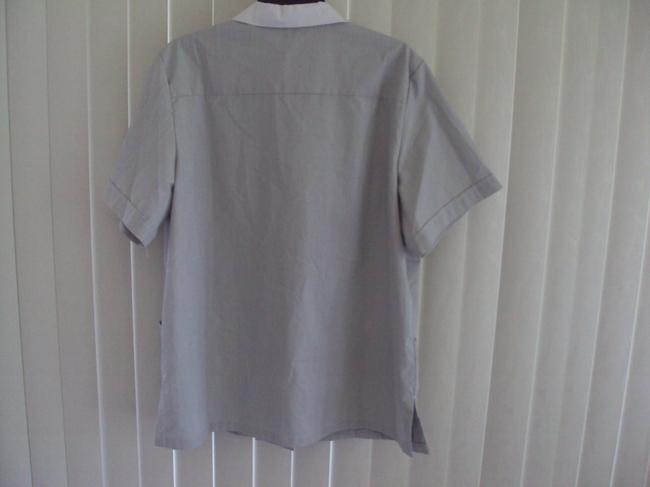 LADY EDWARDS Jacket Button Down Shirt Gray Image 1