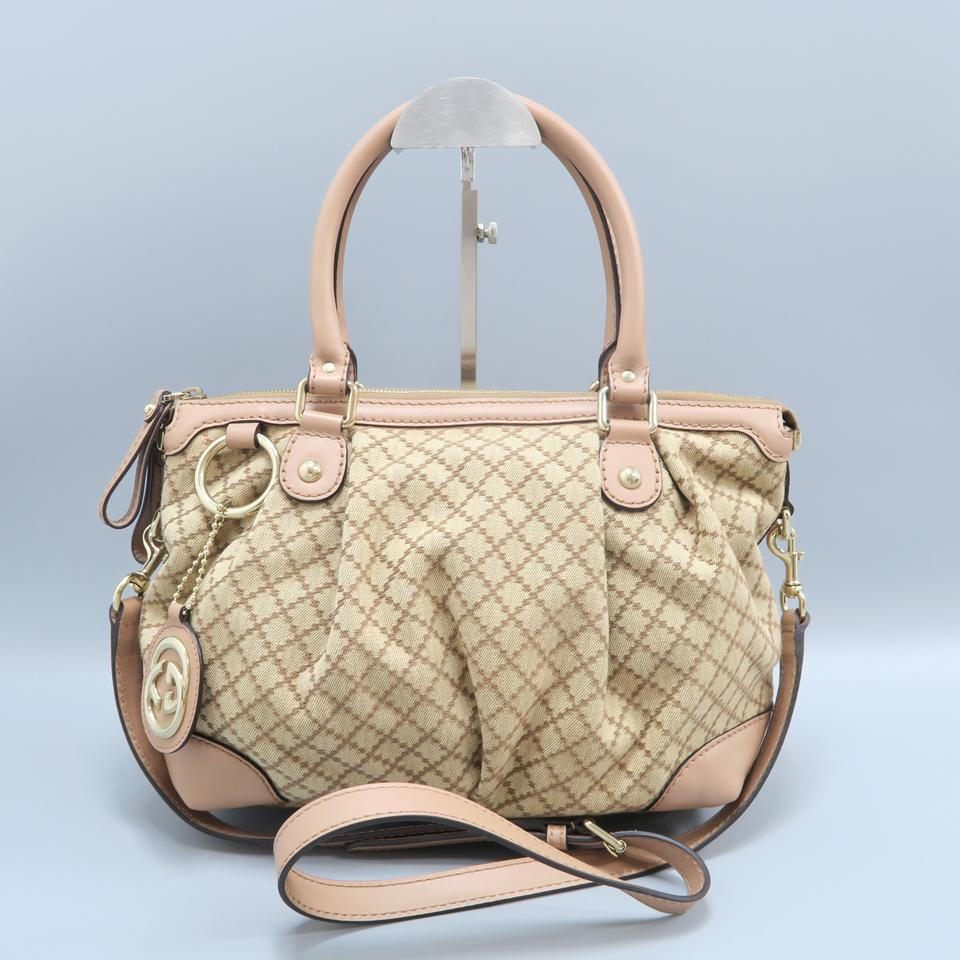 2046cee768e5bd Gucci Sukey Medium Canvas Satchel in Tan Image 0 ...