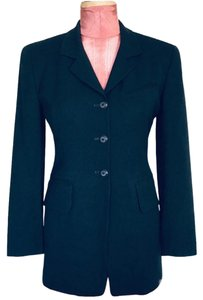 Gruppo Americano Structured Shoulders Fitted Black Blazer