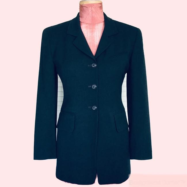 Gruppo Americano Structured Shoulders Fitted Black Blazer Image 1