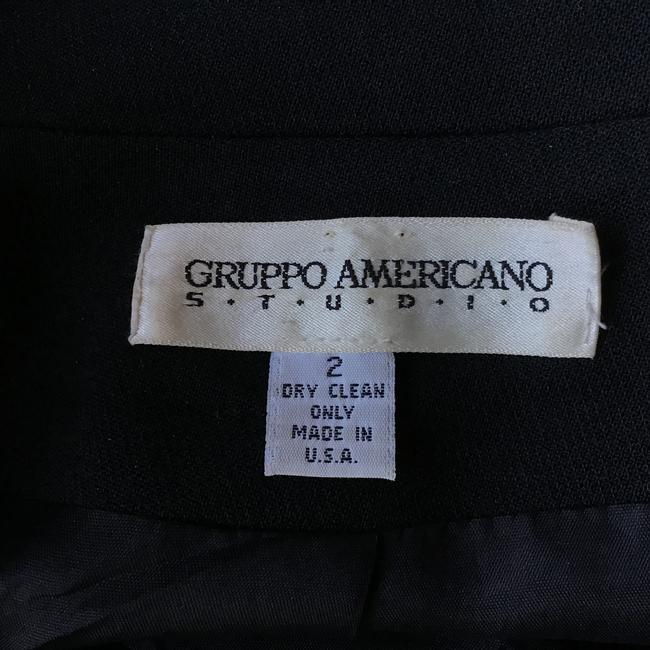 Gruppo Americano Structured Shoulders Fitted Black Blazer Image 10