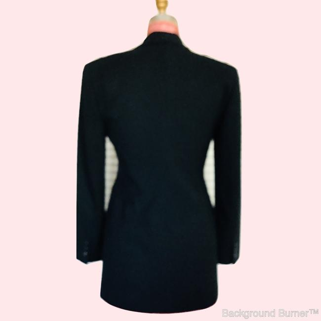 Gruppo Americano Structured Shoulders Fitted Black Blazer Image 2