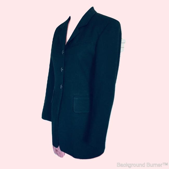 Gruppo Americano Structured Shoulders Fitted Black Blazer Image 3