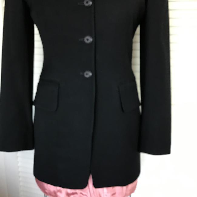 Gruppo Americano Structured Shoulders Fitted Black Blazer Image 4