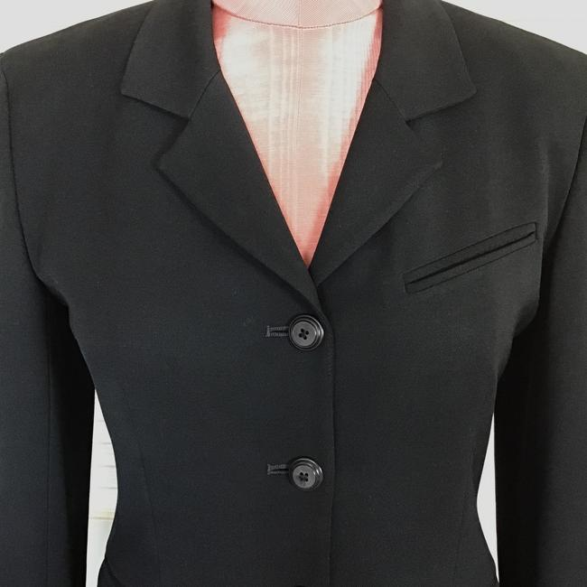 Gruppo Americano Structured Shoulders Fitted Black Blazer Image 5