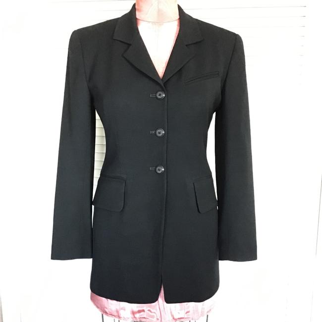 Gruppo Americano Structured Shoulders Fitted Black Blazer Image 6