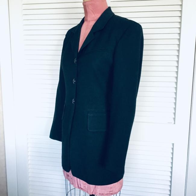 Gruppo Americano Structured Shoulders Fitted Black Blazer Image 7