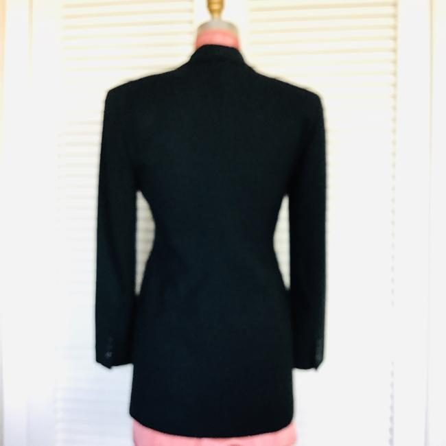 Gruppo Americano Structured Shoulders Fitted Black Blazer Image 8