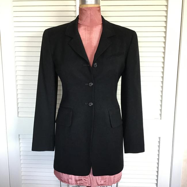 Gruppo Americano Structured Shoulders Fitted Black Blazer Image 9