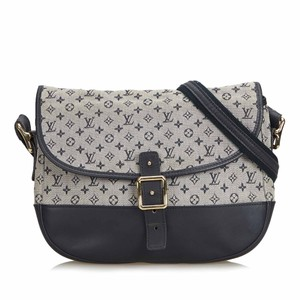 Louis Vuitton 9clvcx024 Vintage Cotton Leather Cross Body Bag