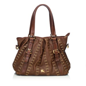 Burberry 9cbust008 Vintage Leather Satchel in Brown